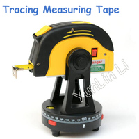 Fio de Linha de Nível Laser Com 5 m * 25mm Tracing Trena A Laser Nível Cruz Ponto de Equilíbrio Instrumento W0374