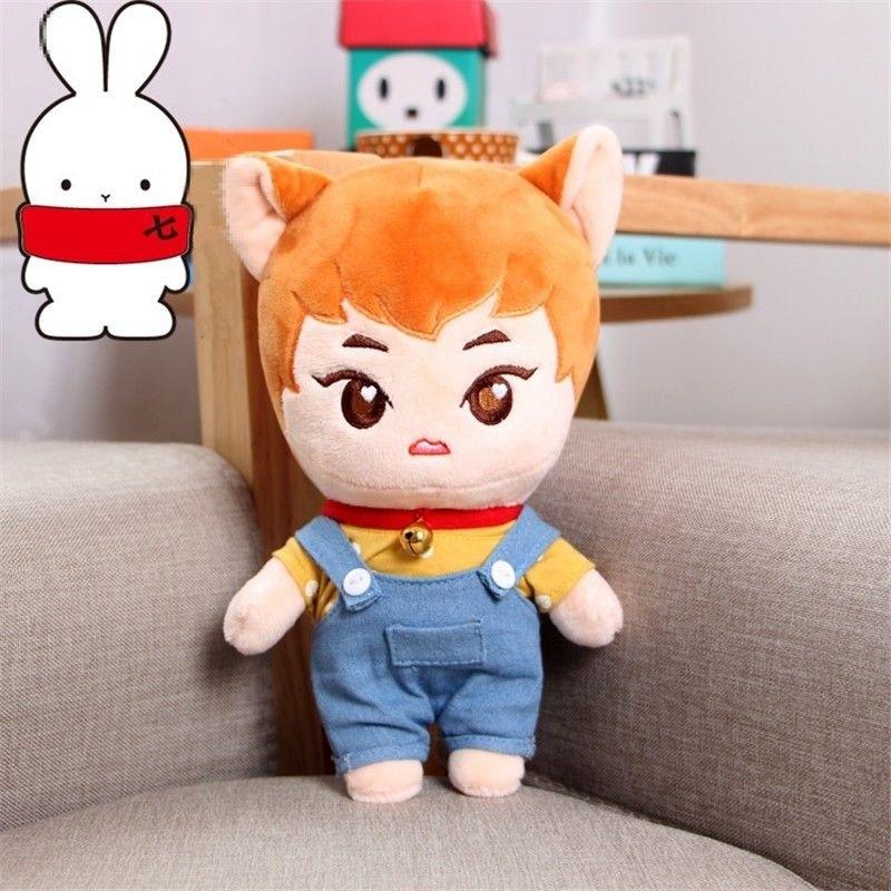 KPOP EXO XIUMIN Plush KimMinseok Soft Toy Cartoon Cosplay handmade Doll Plushie Gift Cute New