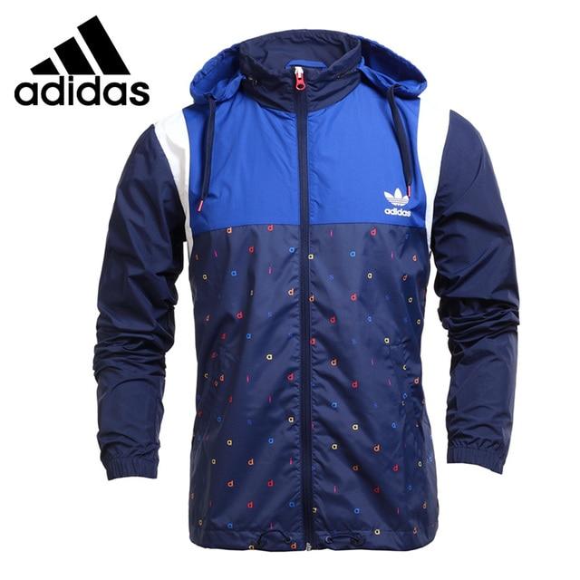 e0308c34 Оригинальный Новое поступление adidas Originals Block it out ветровка Для  мужчин куртка с капюшоном Спортивная