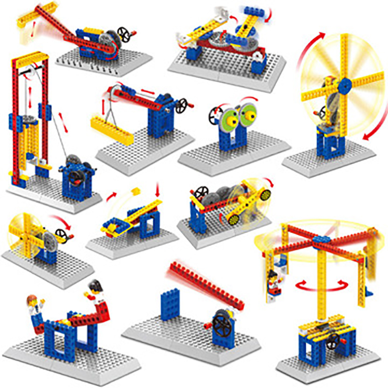 WANGE Engineering Series Kids Mechanical Action Blocks Building Bricks Kits Educational Toys For Children Birthday Gifts wange building blocks toys for children gifts architectures series 978pcs bricks diy educational no 8015