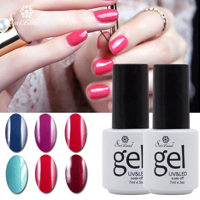 Saviland 1pcs Soak Off Uv Gel Professiona Colors Nail Polish Vanish L Led Gorgeous