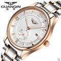 GUANQIN Luxury Brand Мужчины Часы Моды Водонепроницаемый мужские Дизайнерские Часы Спорт Мужчины Золото Кварцевые Наручные Часы Relógio Masculino