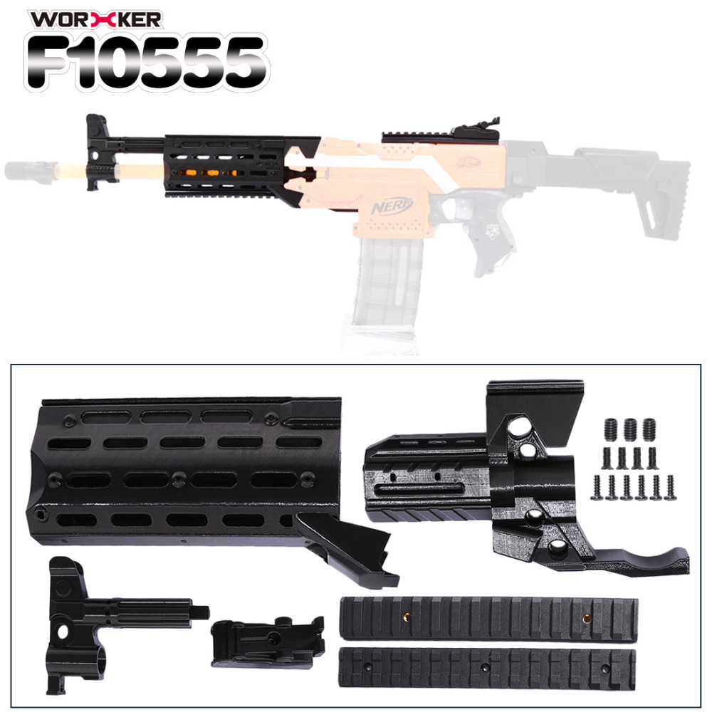Worker f10555 3D Printing NO.153 Modified Kit for Nerf Stryfe(Type-A) Professional Toy Accessories - Black worker f10555 no 152 stf type b set professional toy gun accessories for nerf stryfe black