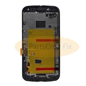 Image 3 - G2 lcd dla Motorola MOTO G2 LCD XT1063 XT1064 XT1068 XT1069 wyświetlacz ekran dotykowy Digitizer + rama Bezel zgromadzenie