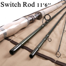 "Maximumcatch 11'6"" 3-8 WT 40T SK Carbon Fiber 4 Sections E-Switch Fly Fishing Rod"