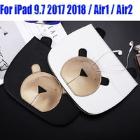 Fashion Lovely Bear PU Leather Smart Case For IPad 2017 Air Air2 Mini 4 3 2