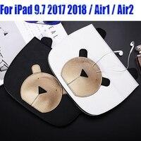 Fashion Lovely Bear PU Leather Smart Case For IPad 2017 Air Air2 Mini 4 3 2
