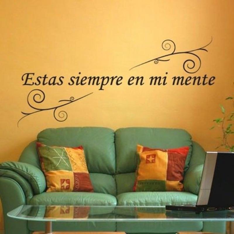 spain vinyl wall quotes estas siempre en mi mente spanish vinyl wall