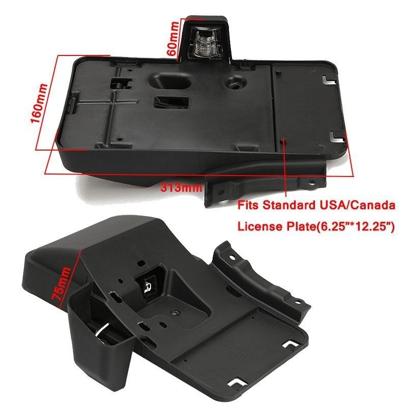 América y Canadá plástico negro Marcos de matrícula JdM con luz ...