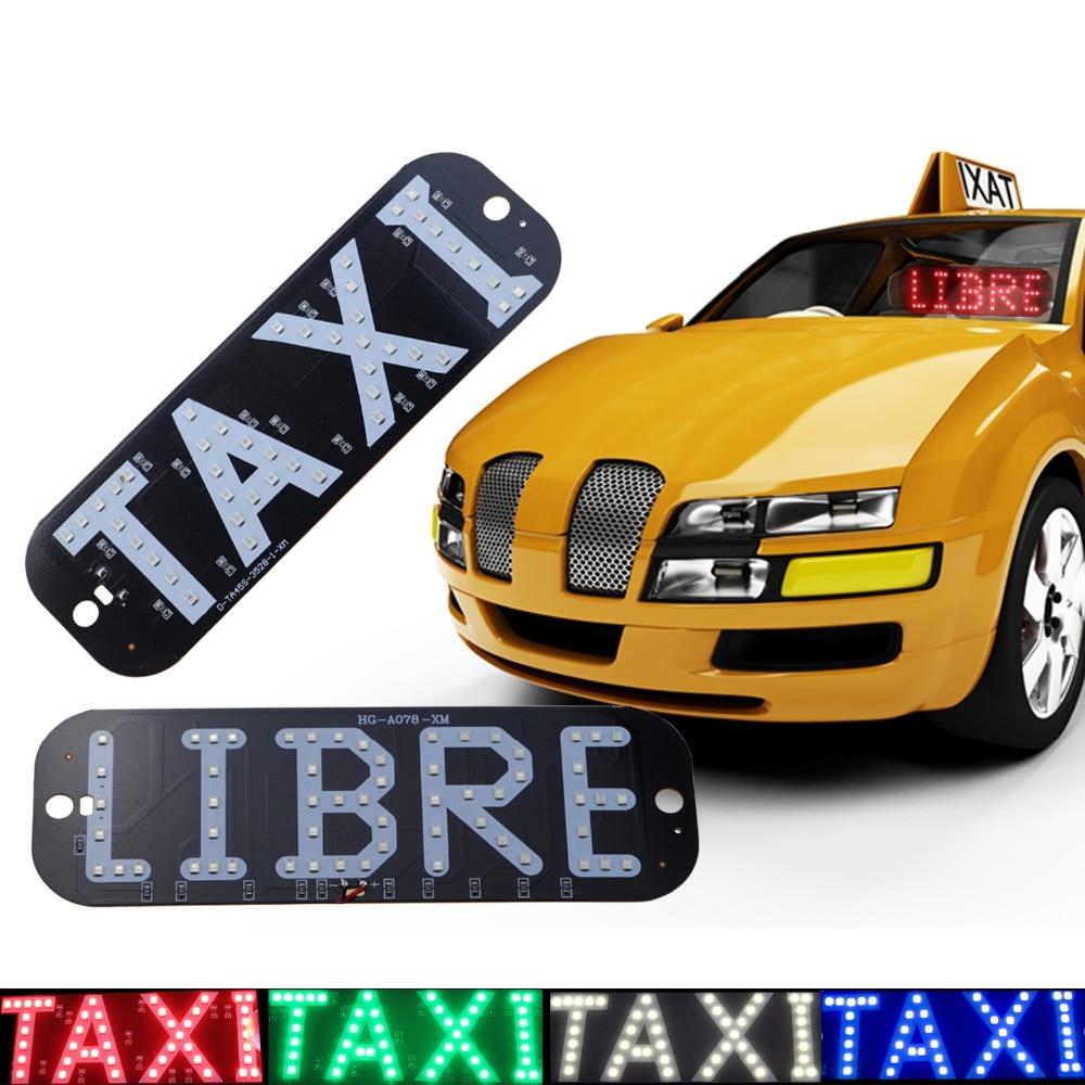 GEETANS 1pcs Taxi Libre Led registrske tablice Avtomobilske luči - Avtomobilske luči - Fotografija 6