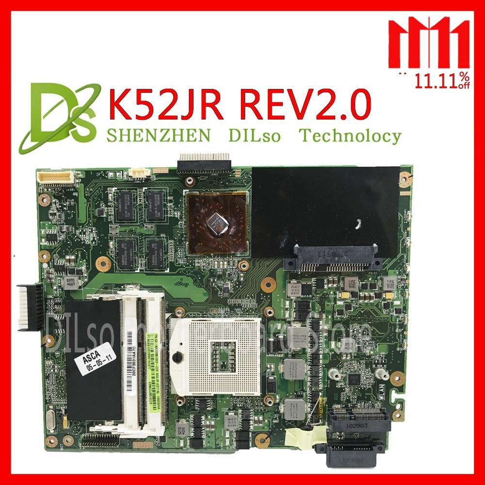KEFU K52JR pour ASUS K52JR K52JC K52JT carte mère REV2.0 carte mère AMD HD 5470 vidéo carte carte mère intégrée