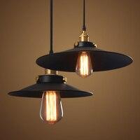 Vintage lampara przemysłowe lampy 36 cm retro wisiorek światła klosz lampy zapala dzienny jadalnia Wieś loft E27 edison