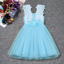 Girls Flower Tutu Party Dress