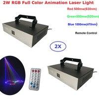 2 XLot DJ лампа светодиодный лазерный проектор 2 Вт RGB 3в1 анимация лазерные огни дистанционное/Звуковое управление для дома Рождество лазерный