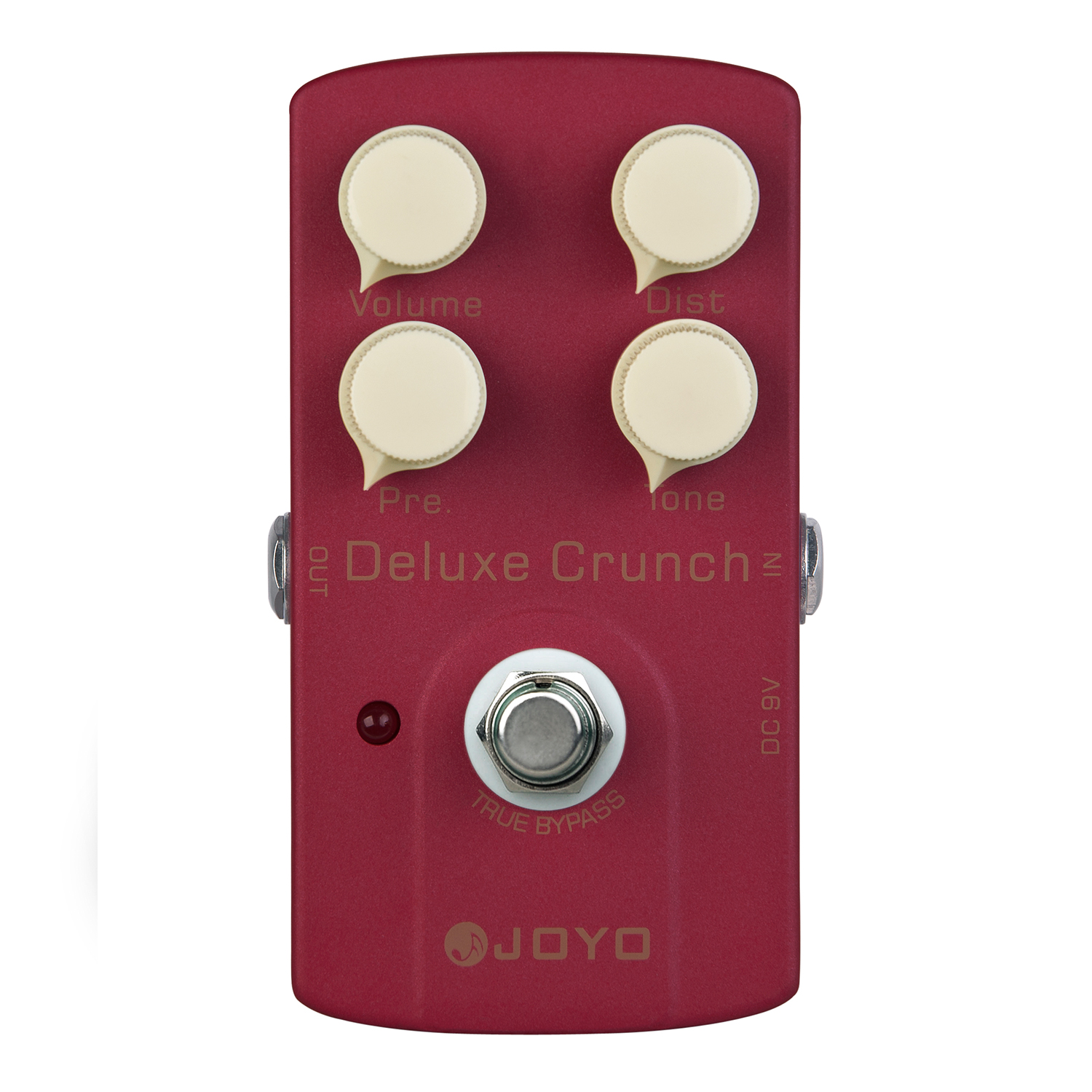 JOYO Deluxe Crunch Distortion Electric Guitar Effect Pedal True Bypass JF-39 with Free Connector and Footswitch Topper mooer hustle drive distortion guitar effect pedal micro pedal true bypass effects with free connector and footswitch topper