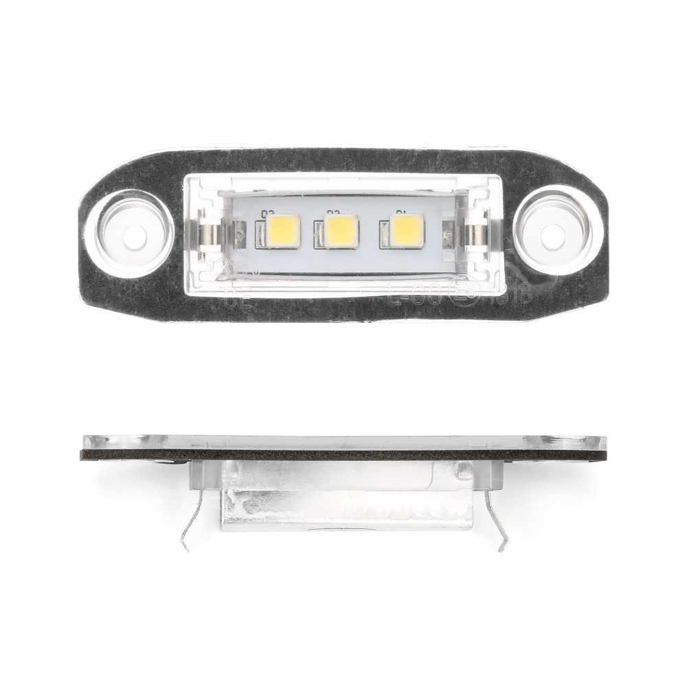 Ampoule LED Voiture éclairage de plaque d'immatriculation LED pour Volvo S80 XC90 S40 V60 XC60 S60 C70 V50 XC70 V70 blanc Voiture-style lampe numéro #4