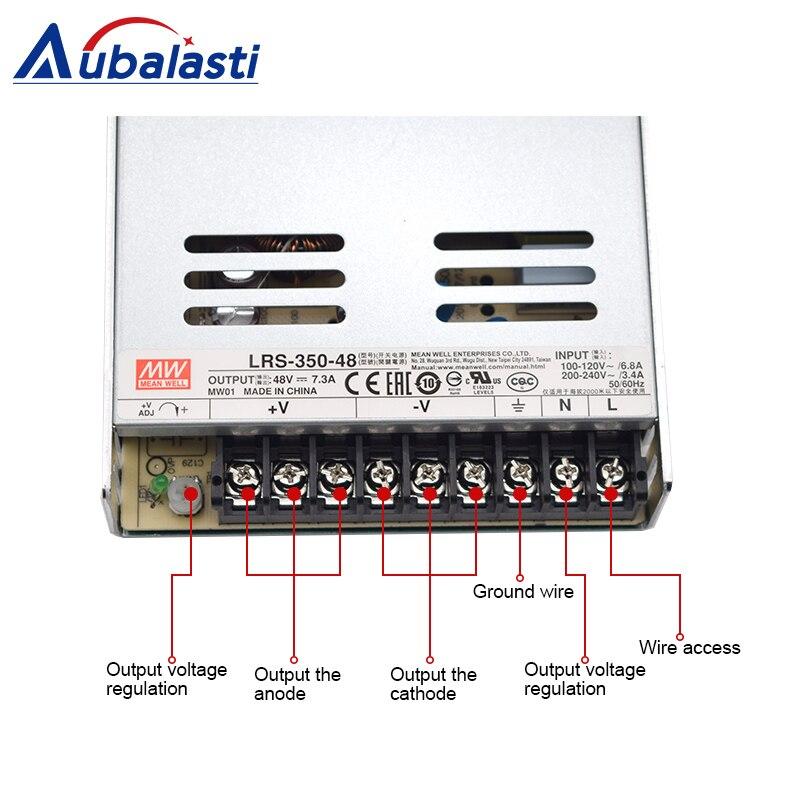 meanwell power supply LRS-350 switching power supply DC 5V 12V 24V 36V 48V Power Supply use for cnc router engraving machine