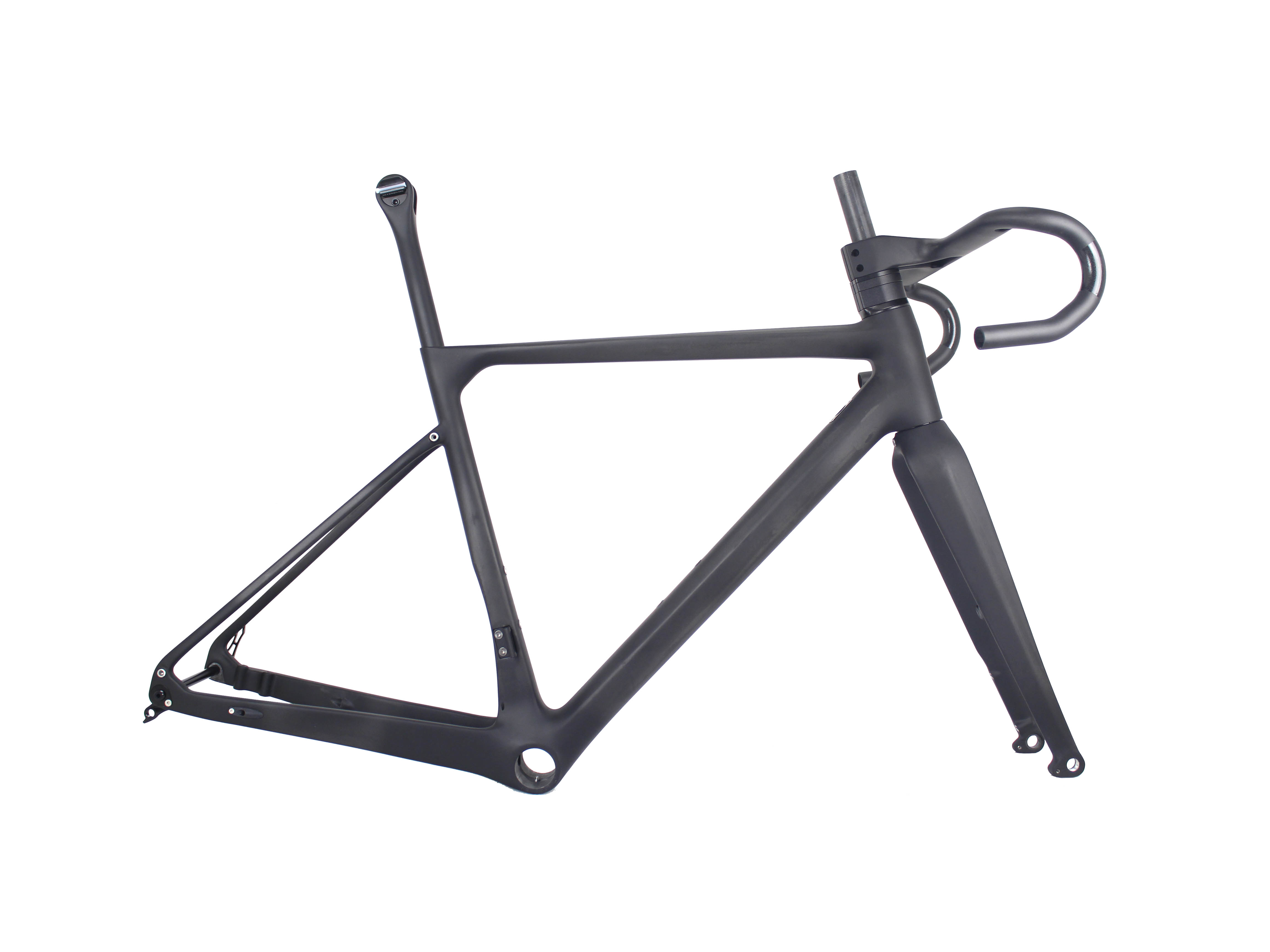 MIRACLE Bikes Super Light Thru Axle 700x40C Carbon Gravel Frame Di2&Mechanical 12*142mm Disc Carbon Bike Frame GR039