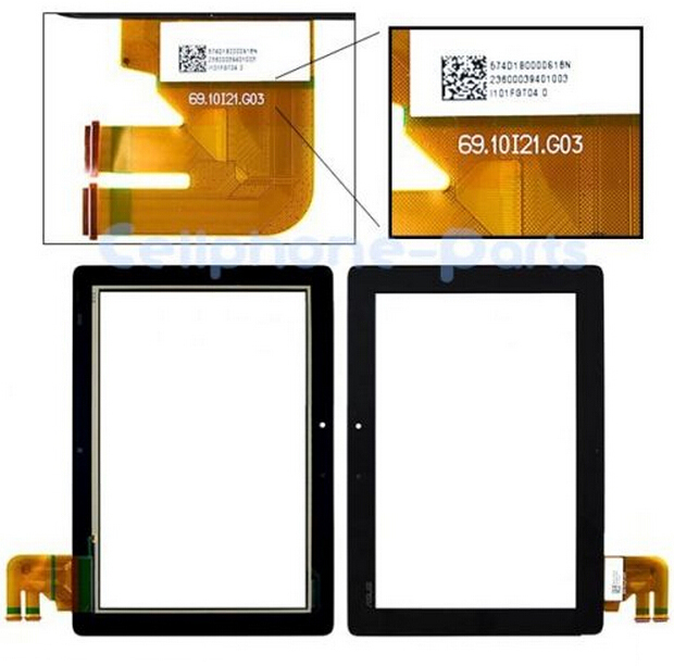 Для Asus Transformer Pad TF300 TF300T Tablet PC Сенсорным Экраном Дигитайзер Стеклянных Деталей Rev G03 G02 G01