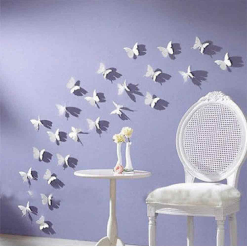 12 шт./компл. Новая мода Горячая DIY 3D бабочка передвижная стена из пвх настенная бумага домашний переводной рисунок для комнаты декоративные фрески