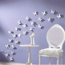 12Pcs/Set New Fashion Hot DIY 3D Butterfly Removable PVC Wall Wall Paper Home Room Decal Murals Decoration(China)