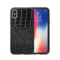 For iPhone 7 7 Plus 8 8 Plus X XS MAX XR XS Phone Case Fitted Leather Case Men Women Water Proof Business Crocodile Pattern
