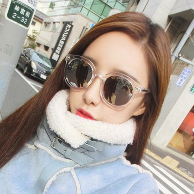 DRESSUUP Colorful Transparent Vintage Round Sunglasses Women Arrow Mercury Coating Female Oculos De Sol Feminino 2016 Gafas