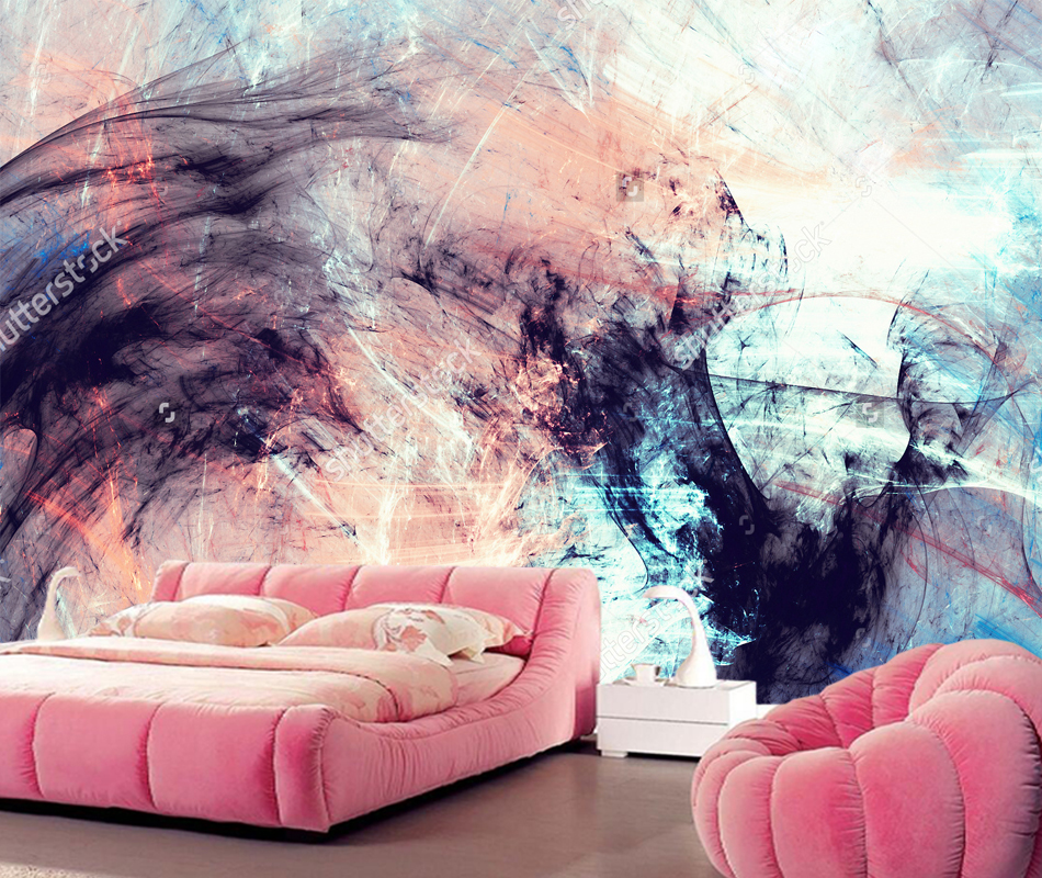 3D abstract art wallpaper, color dynamic background for the living ...