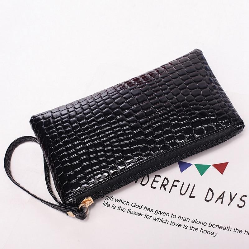 New fashion ladies leather wallet mini coin purse phone bag famous designer handbag high quality PU soft handle hand wallet
