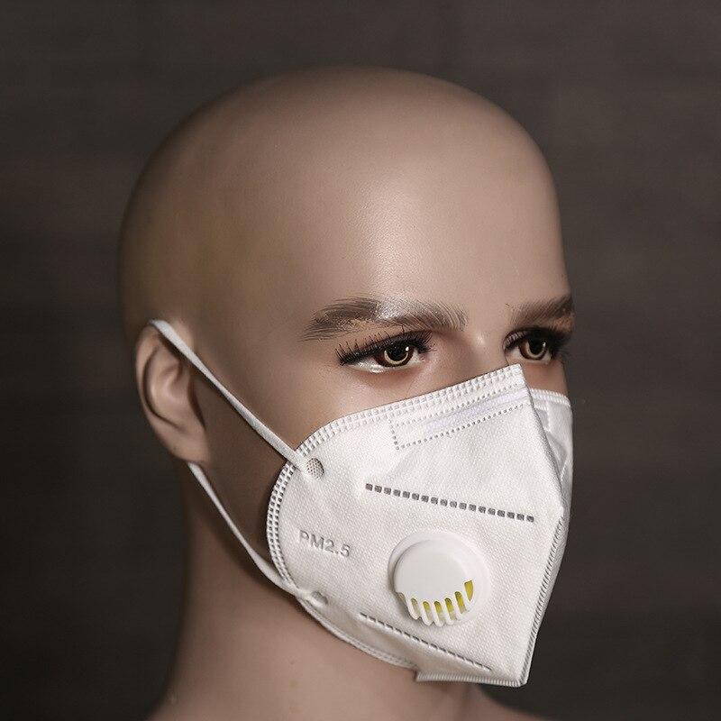 2018 Neue Einweg Falten Atemschutzmaske Staubdicht Smog Vlies Mit Atemwege Ventil Schutzmaske Elegantes Und Robustes Paket