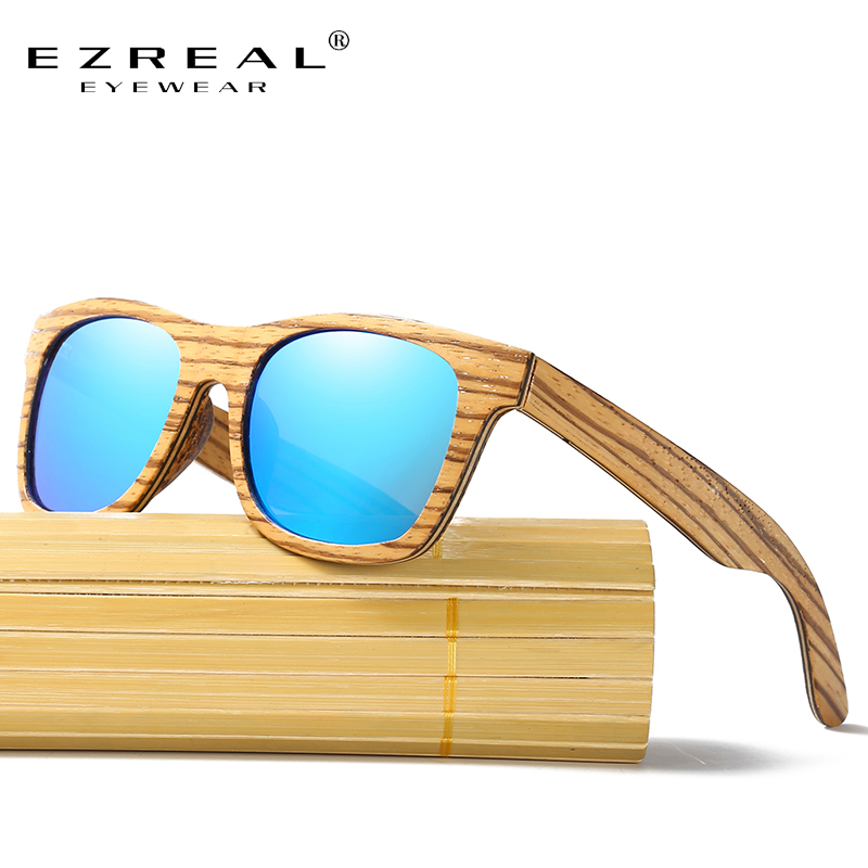 Ezreal Новый поляризованные Для мужчин бренд зеркало очки деревянный Защита от солнца Очки Для женщин Для мужчин бренд дерева Солнцезащитные ...