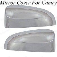 도요타/캠리 2012-2014 abs 크롬 자동 후면 거울 트림에 대 한 2 pcs 크롬 스타일링 자동차 후면보기 미러 커버