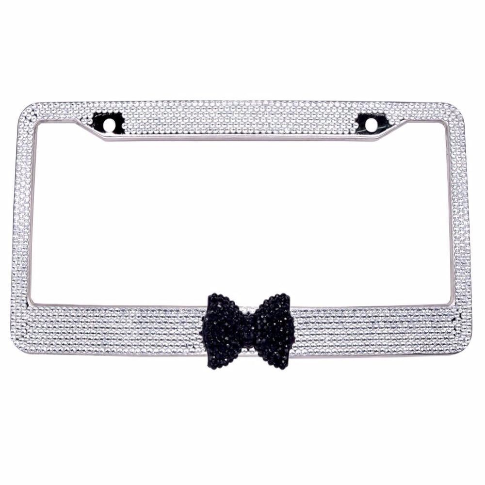 Bling Bling License Plate Frames 2 PACK 8 Row Pure Handmade ...