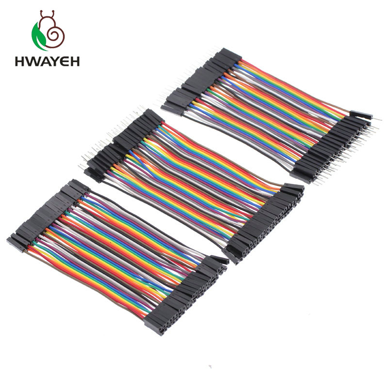 1 Meter Pi Arduino 40P Red and Black 26AWG Flat Cable With Good Ducti...