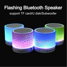 2016 New Portable LED Bluetooth Speaker Support TF Card MIni Wireless Music Sound Box Subwoofer Loudspeakers For Cellphones PC