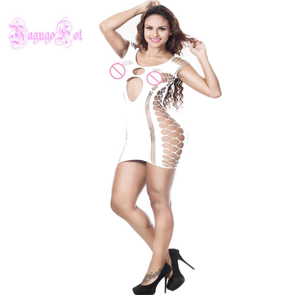 Seksowna erotyczna kabaretka Mini obcisła sukienka Bodystocking bielizna klubowa bielizna nocna Cosplay Cotillon kimono Babydoll