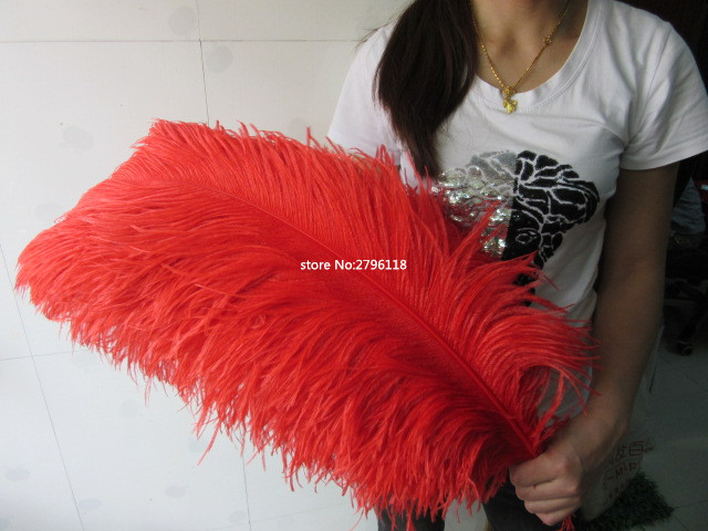 50 pcs natural red ostrich feather 70 75 cm 28 to 30 inches feathers ostrich plume wedding. Black Bedroom Furniture Sets. Home Design Ideas