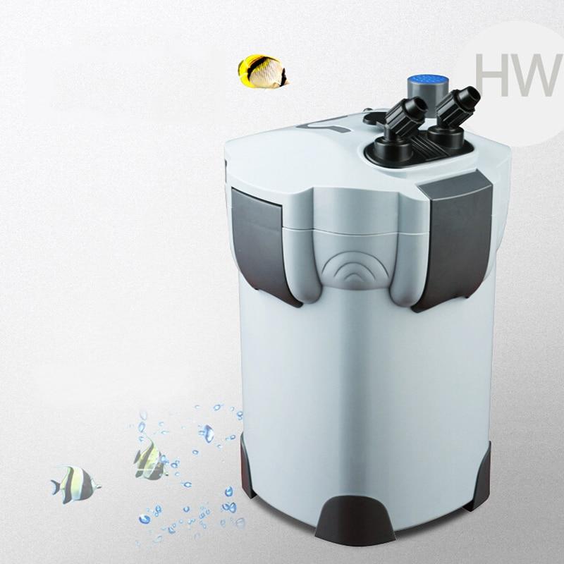 NCFAQUA 55W 2000L/h SUNSUN HW 404B 4 Stage Aquarium External Canister Filter with 9W UV Sterilizer for Aqua Fish Tank Up to 500L