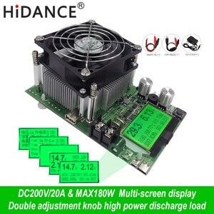 Цифровой тестер емкости 180 Вт, индикатор электропитания 200 В постоянного тока, электронное зарядное устройство 18650, резистор, usb проверка