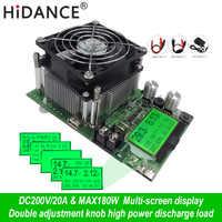 Probador de capacidad Digital de 180W indicador de fuente de alimentación CC 200V carga electrónica 18650 descargador de batería resistencia prueba de comprobación usb