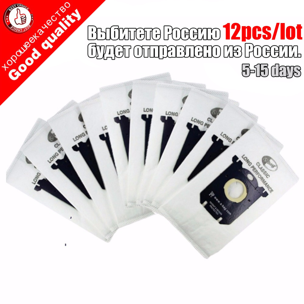 12Pcs Dust Bag Vacuum Cleaner Bag S Bag For Philips Electrolux FC8202 FC8204 FC9087 FC9088 HR8354 HR8360 HR8378 HR8426 HR8514