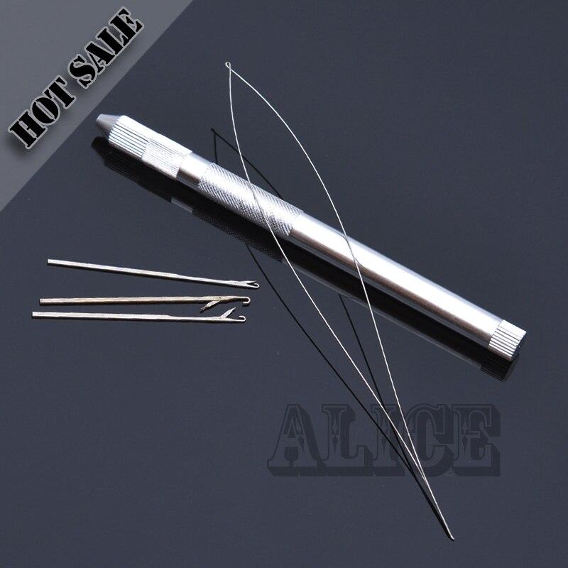 12ピースレースかつら換気針用レースかつらマイクロリング毛延長フック針かつら作りツール  グループ上の ヘアエクステンション & ウィッグ からの フック針 の中 1