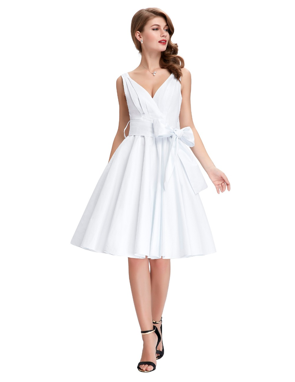 Women summer vintage party dresses 2016 retro 50s style swing pin women summer vintage party dresses 2016 retro 50s style swing pin up plus size clothing vestidos femininos sexy formal work wear in dresses from womens ombrellifo Gallery