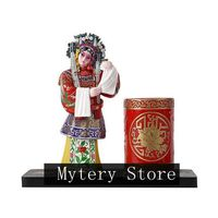Beijing Opera Character Modeling Decoration,Classical beauty modeling Desktop Decoration, Pen Holder, Birthday Gift