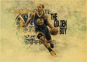 Stephen Curry basketball star vintage poster of a vintage kraft paper bar decorative wall sticker classic paintings 2