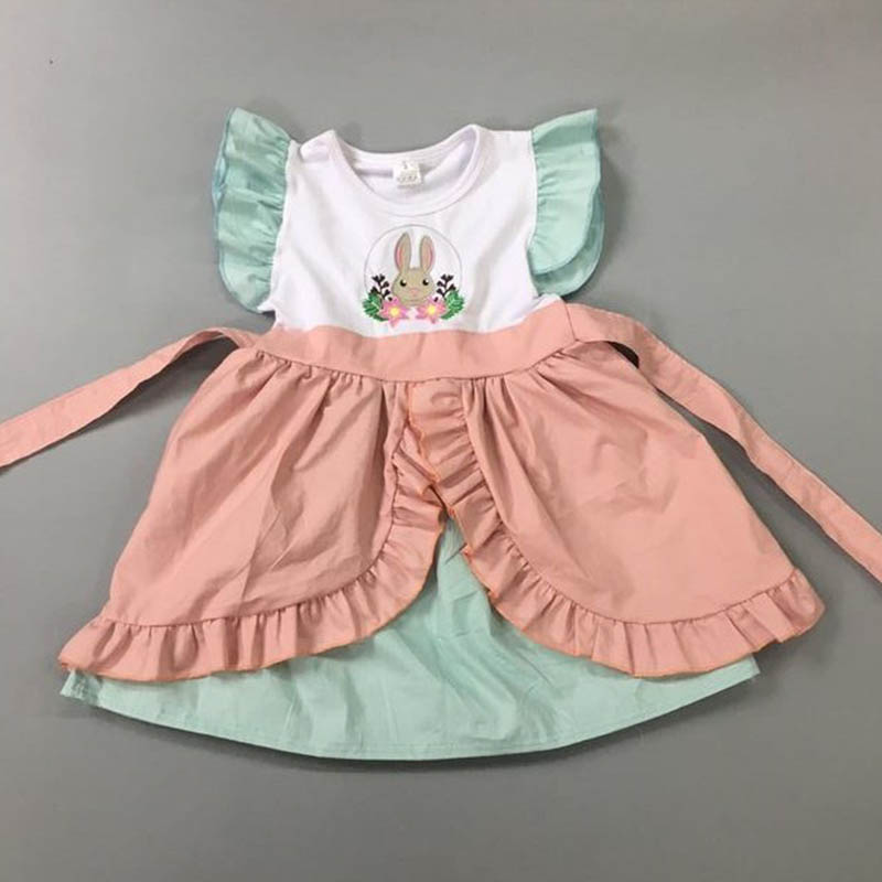 Boutique Baby Outfit New Toddler Remake girl ruffle party icings top dress