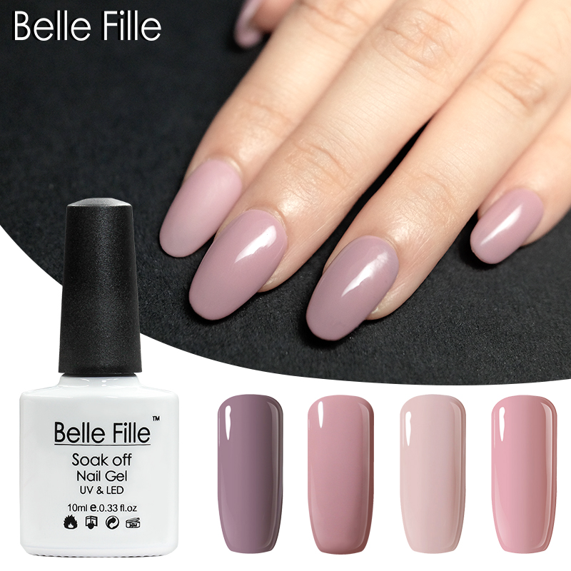 00c9608bc7 US $0.99 45% OFF|Belle Fille Gel Nail Polish UV LED Nude Pink Long lasting  Soak Off Varnish Gel Lacquer For Nail Semi Permanent-in Nail Gel from ...