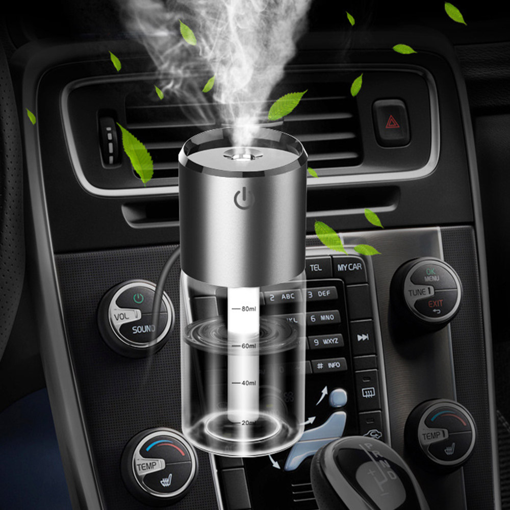 12V Auto Perfume Clip Purifier Aroma Aromatherapy Diffuser Car Air Humidifier Air Freshener 2USB Fast Charge Cigarette Lighter