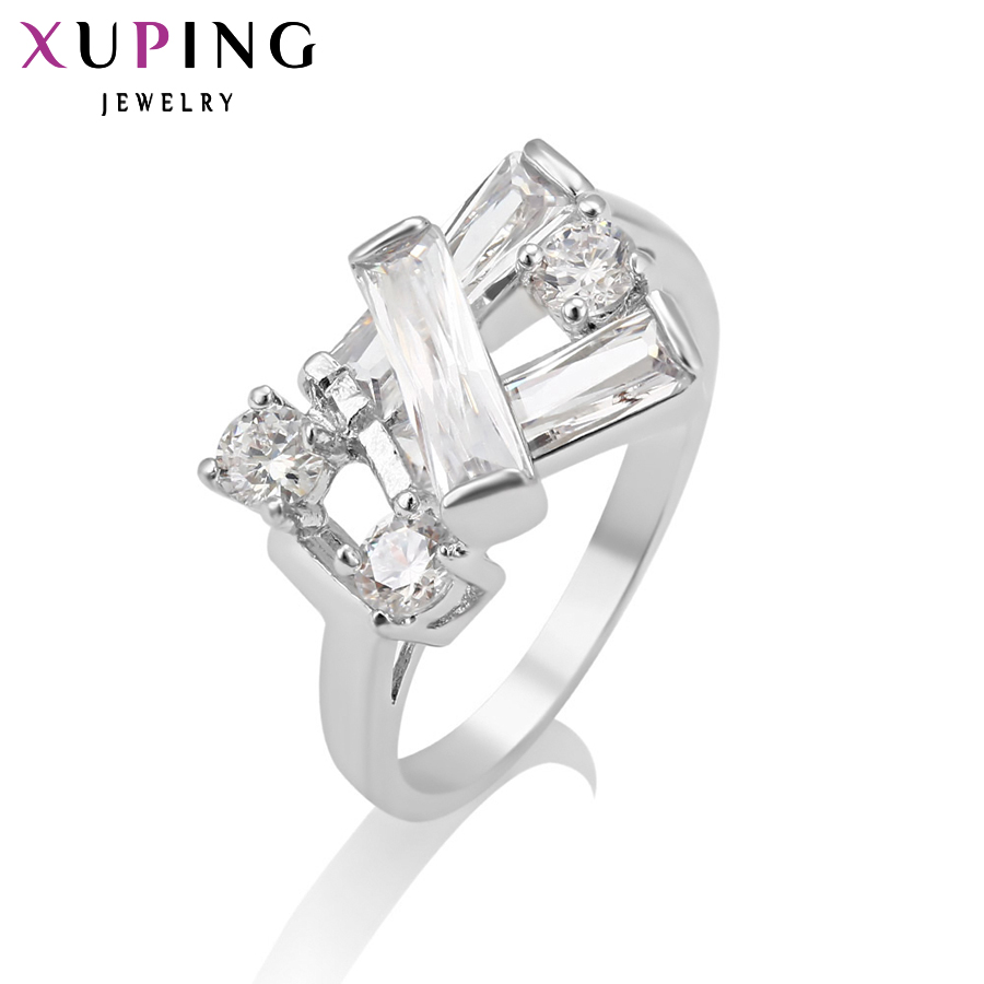 11.11 Deals Xuping Fashion Ring Beautiful Jewelry for Women Synthetic CZ Trendy Party Christmas Gift 2017 New Design 13239