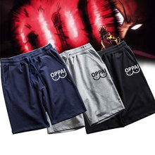 New OPPAI Printed Men Casual Shorts Pants Cotton Running Gym Summer Sports